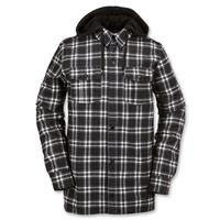 Black White Plaid Volcom Field Bonded Flannel Mens front