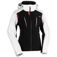 Black/White/Red Kjus Drome Jacket Womens
