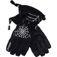 Black / White Spyder Over Web Gloves Boys
