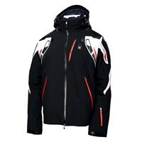 Black/White/Volcano Spyder Pinnacle Jacket Mens