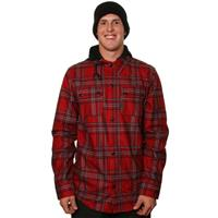 Blood Red Volcom Chainsaw Flannel Mens
