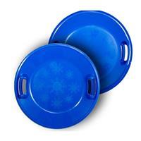 Blue Lucky Bums Plastic Saucer