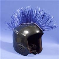 Blue Mental Wig Out Mohawk Helmet Cover