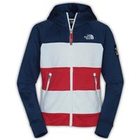Blue/White/Red The North Face International Full Zip Hoodie Girls