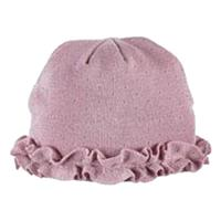 Blush Turtle Fur Ruffle Hat
