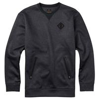 True Black Heather Burton Bonded Crew Mens