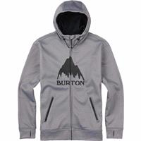 Monument Heather (17) Burton Bonded Full Zip Hoodie Mens