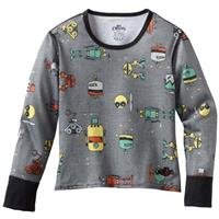 Bots Charcoal Hot Chillys Mid Weight Print Crew Neck Youth