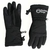Black Northern Ridge Polar Bear Gloves Youth