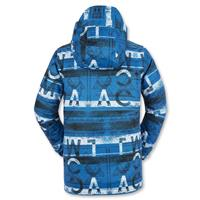 Bright Blue Volcom Woodland Insulated Jacket Boys back