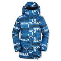 Bright Blue Volcom Woodland Insulated Jacket Boys front