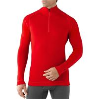 Bright Red Smartwool NTS Mid 250 Zip T Mens