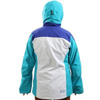Bright White Coloblock Burton AK 2L Altitude Jacket Womens