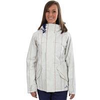 Bright White Gamine Pin Print Burton Logan Jacket Womens