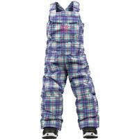 Bright White Punkstar Plaid Burton Minishred Sweetart Bib Pants Toddler Girls