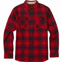 Process Red Shadowbox Burton Brighton Flannel LS Woven Mens