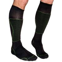Brown Footprint Bamboo Ski Socks