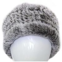 Brown Frost Mitchies Matchings Rabbit Fur Headband Womens