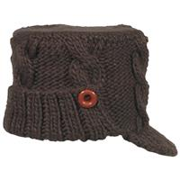 Brown FU R Addison Beanie Womens
