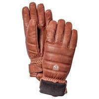 Brown Hestra Alpine Leather Primaloft Gloves