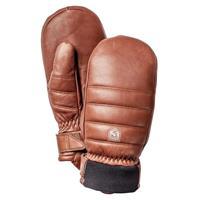 Brown Hestra Alpine Leather Primaloft Mitts