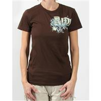 Brown Ride Girlie Logo T Shirt Womens