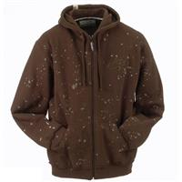 Brown Ride Splatter Full Zip Hoodie Mens