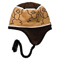 Screamer Jungle Jim Earflap Beanie - Youth - Brown
