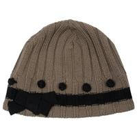 Brown Topaz / Onyx Nils Knit Hat Womens