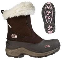 Brownie Brown / Pink Lemonade The North Face Greenland Zip Snow Boot Girls