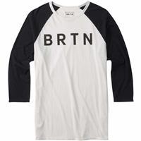 Stout White Burton BRTN Raglan 3/4 Tee Mens