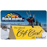 Buckman's Retail Store Gift Card (for use in our retail stores only)