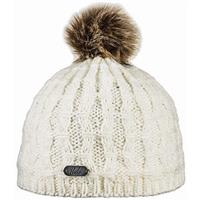Ivory Bula Twisted Beanie Womens