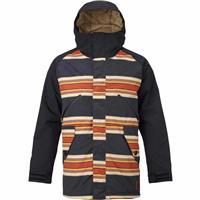 Vintage Stripe / True Black Burton Breach Jacket Mens