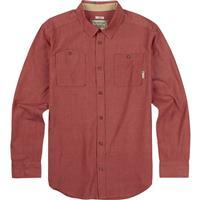 Brick Red Chambray Burton Glade Long Sleeve Shirt Mens