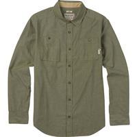 Olive Night Chambray Burton Glade Long Sleeve Shirt Mens