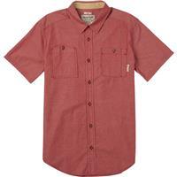 Brick Red Chambray Burton Glade Short Sleeve Mens