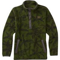 Rifle Green Tropical Burton Hearth Fleece Pullover Mens