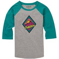 Burton Ivorie Raglan - Girl's - Gray Heather / Green-Blue Slate