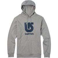 Gray Heather Burton Logo Vertical Pullover Hoodie Mens