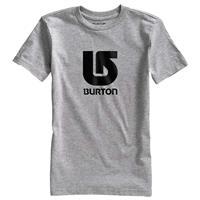 Gray Heather Burton Logo Vertical Short Sleeve T Shirt Boys