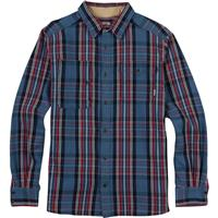 Washed Blue North End Burton Mill Long Sleeve Woven Shirt Mens