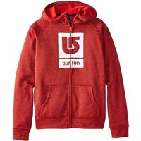 True Black / Burner Burton Oak Bonded Full Zip Hoodie Boys