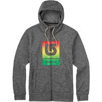 True Black Heather Burton Oak Full Zip Hoodie Mens
