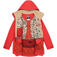 Firey Red Sueded Burton Prowess Jacket Womens