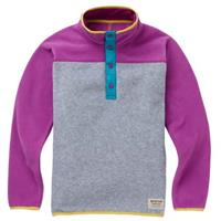 Burton Spark Anorak Fleece Pullover - Youth - Gray Heather / Grapeseed