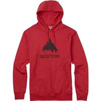 Fiery Red Heather Burton Stamped Mountain Recycled Pullover Hoodie Mens