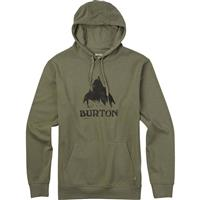 Light Olive Heather Burton Stamped Mountain Recycled Pullover Hoodie Mens