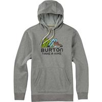 Gray Heather Burton Take A Hike Pullover Hoodie Mens