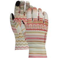 Aqua Gray Revel Stripe Burton Touchscreen Liner Glove Mens